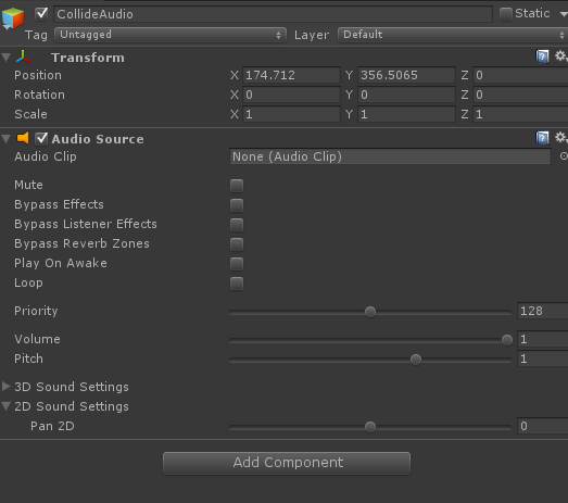 unity 2d how to add music